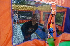 bouncy castle boy